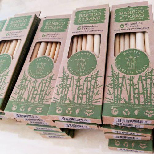 Box of bamboo straws